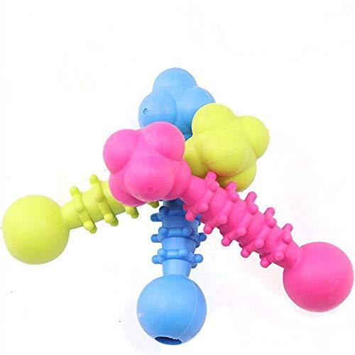 CEXWZQ Haustier Spielzeug Kauen Hundespielzeug Teddy Welpe Gesundheit Kauen Interaktive Gummi Schnuller Knochen Molar Reinigen Sie Die Zähne, 3Pcs-1Pcs_Random_Color_15X4Cm_3Pcs