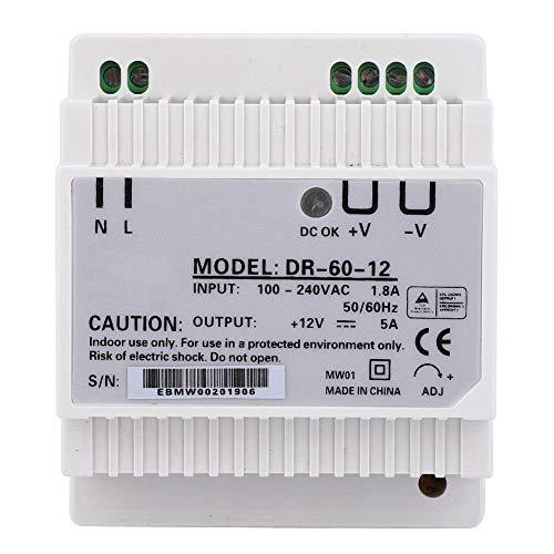 【Dolci Natali】Alimentatore su guida DIN, uscita fonti di segnale da 12 V, PWM medio ponte monofase potenza di uscita 60 (W) tessile per controllo industriale strumento (DR-60-12).