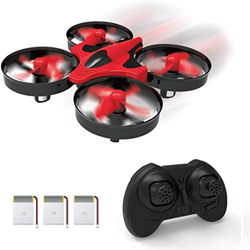 Mini Drone for Kids and Adults RC Nano Training Quadcopter Indoor Small Helicopter Toys with 3D Flip, Headless Mode, One Key Return, Speed Adjustment, Hovering and LED Lights for Boys and Girls, Red