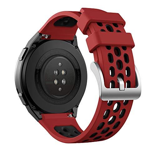 KINOEHOO Correas para relojes Compatible con HUAWEI Watch GT 2E Pulseras de repuesto.Correas para relojesde siliCompatible cona.