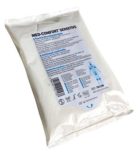 Sensitive Feuchte Molton-Waschhandschuhe, Med-Comfort (30 x 8 Stück)