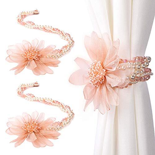 Tayis Blume geformt Vorhang Krawatte zurück, Perle Kristall magnetische Vorhang Raffhalter ziehen zurück für...