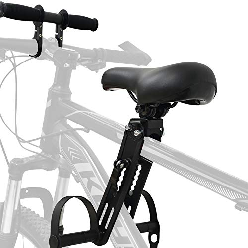 VELIHOME Kids Bike Seat&Armrest for Mountain Bikes,Kids Bike Seat,Bike Seat Toddler,Mountain Bikes Accessories Front Mounted Bicycle Seats for Children 2-5 Years,Easy to Install(Black)
