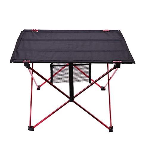 HHHGO Outdoor draagbare klaptafel, multifunctioneel, lichtgewicht aluminiumlegering, structuur, vrijetijdstafel, kunststof voor binnen en buiten, picknicktafel