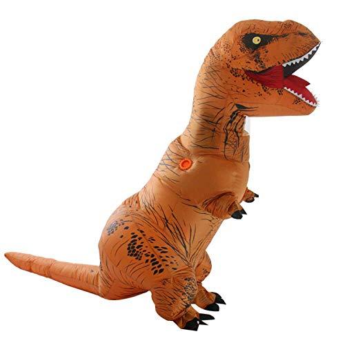Ellyeall Disfraz Inflable de Dinosaurios Halloween, Vestido Divertido, marrn y Cable USB, Disfraz de explosiones, Traje de Fiesta de Cosplay en General