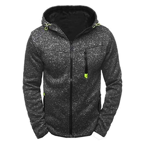 Sweat-Shirt à Manches Longues pour Homme, Sweat-Shirt Homme Manches Longues Pull Hoodies Zippé Bomber Blouson Veste Sport Pull-Over Jacket Tops Manteau Outwear