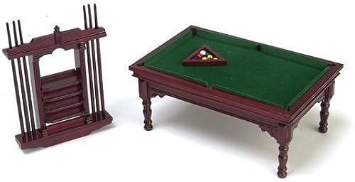 Venta barata Town Square Square Square Miniatures Dolls House Miniature Furniture 1 12 Scale Mahogany Pool Snooker Table Set  liquidación hasta el 70%
