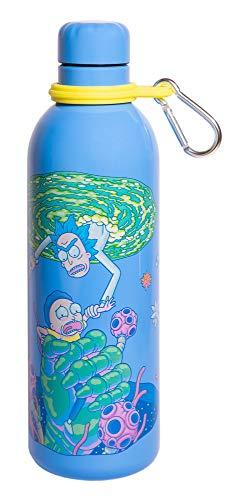Grupo Erik Botella de Agua Acero Inoxidable con mosquetón Rick & Morty, 500 ml
