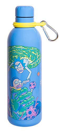 Grupo Erik Botella de Agua Acero Inoxidable con mosquetón Rick & Morty, 500 ml