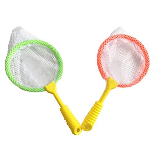 TOYANDONA 8pcs Kinder Insekten Netz Kescher Schmetterling Klein Angeln Fangen Entdeckerspielzeug Freizeitspass Fangen Spielzeug (Zufällige Farbe)
