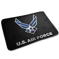 アメリカ空軍 玄関ドアカーペット15.7x23.6インチフロアマットドアマット屋内/屋外/バスルーム家庭用滑り止めフロアマット