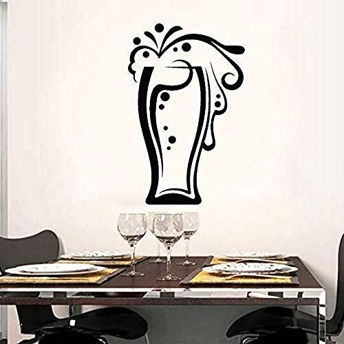 Colección de bebidas, taza de cerveza, vinilo cortado, calcomanía, pegatinas de pared, decoración del hogar, cocina, mural autoadhesivo, 42X65Cm