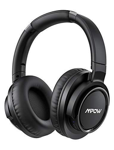 Mpow H18 Noise Cancelling Headphones [50Hrs Playtime], Wireless Hi-Fi Deep...