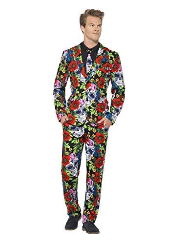 Smiffys 41589L - Tag der Toten Anzug mit Jacke Hosen und Krawatte