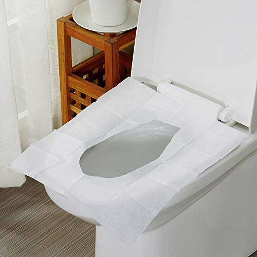 10 Stks/Pack Wegwerp Toilet Stoel Cover Mat Toiletpapier Pad voor Reizen Camping Badkamer Toegangsborden Pocket Size Flushab