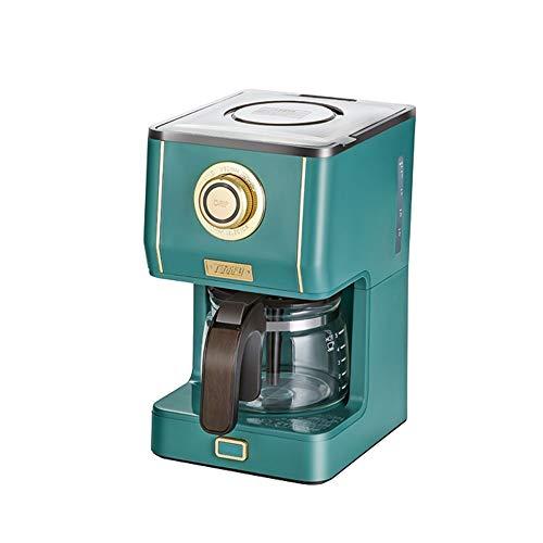WEISHAA Kaffeemaschine Startseite Kleine Elektro-Drip-Kaffee-Maschine Kaffee Retro amerikanische Kaffeemaschine Haushalts-elektrische Drip Kaffeekanne Brew Kaffee Kaffee Dunkelgrün