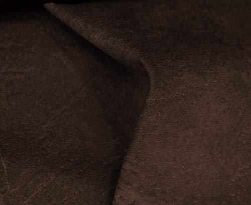 HAPPERS 0,50 Metros de Polipiel para tapizar, Manualidades, Cojines o forrar Objetos. Venta de Polipiel por Metros. Diseño Sugan Color Marrón Ancho 140cm