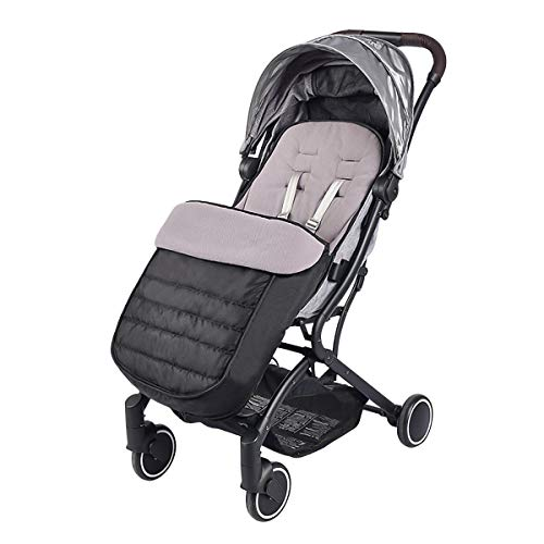 SONARIN Universal Premium Fußsack für Kinderwagen,Wasserdicht und winddicht,weicher Deluxe ThermoFleece,Cosy Toes,für Jogger, Buggy(Schwarz)