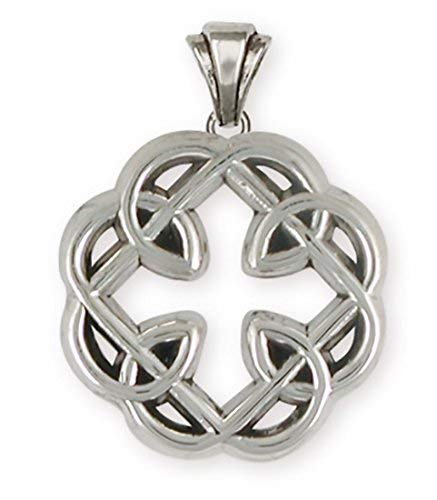 Celtic Knot Father And Daughter Cross Pendant Handmade 925 Sterling Silver Jewelry For Women's Party Gifts Wear MFC-P