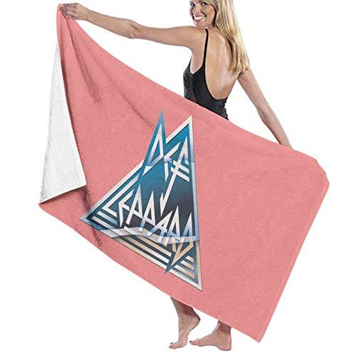 Def Leppard Toalla de baño de secado rápido, suave, toalla de ducha de playa, 130 x 80 cm