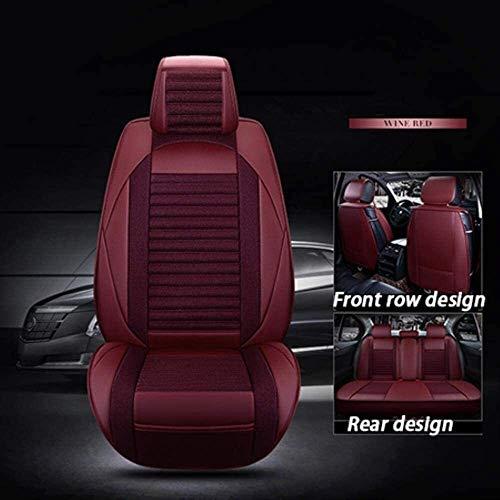 Cubierta de silla de coche para Usado para Asiento de coche cubierta de cuero con el lino funda de a