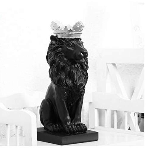 WQQLQX Statue Tierwandskulptur, Scandinavian Aussehen Krone Krone Film Skulptur Schmuck Hauptdekoration Handwerk Emblem moderner Schreibtisch Skulptur Tierwand Skulpturen