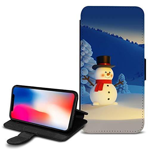 Generic Weihnachten Schneemann-Design pu Leder geldbörse Tasche hülle für Verschiedene Handys - 24 - Motorola Moto G6