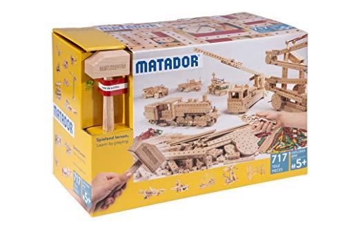 Matador 11717 E717 Baukasten, holzfarben, bunt