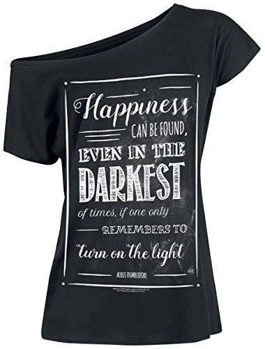 Harry Potter Albus Dumbledore - Happiness Can Be Found Frauen T-Shirt schwarz XXL