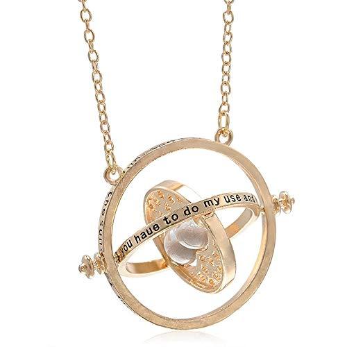 Collarde moda time turner collar hourglass pendent jewelry para regalos unisex