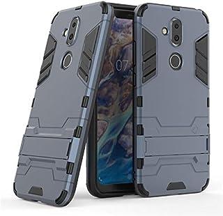 غطاء هاتف نوكيا 7.1 بلس ايرون مان مع غطاء خلفي مضاد للصدمات - ازرق غامق