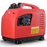 Arksen 1250W Portable Gas-Powered Quiet Inverter Generator Outdoor Gasoline EPA CARB Compliant Red