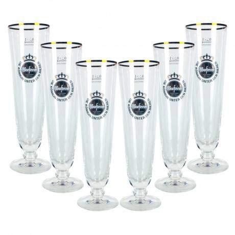 Warsteiner Bier Pils Glas Gläserset - 6X Tulpen 0,3l geeicht