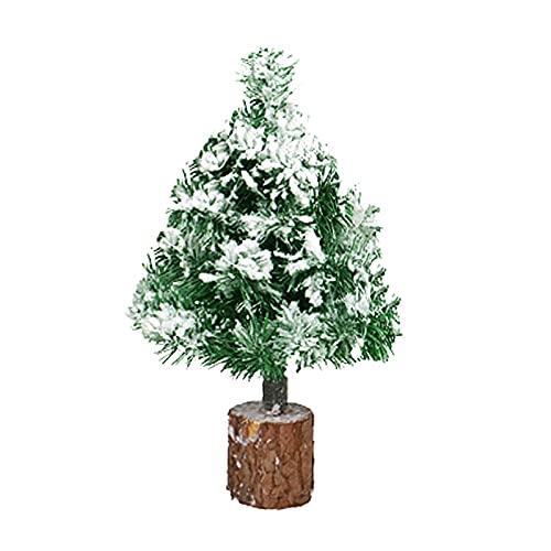 albero di natale 30 cm YLSZHY - Albero di Natale artificiale con base in legno