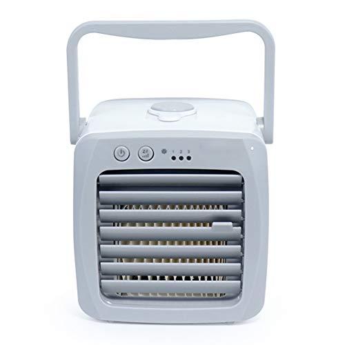 YUMO 2020 refrigerador Portable de Aire silencioso Mini acondicionador de Aire refrigerador pequeño Ventilador del humidificador con 3 velocidades para Ministerio del Interior