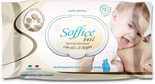 Palucart salviette imbevute neonato salviette bambini 12 confezioni da 72 pezzi cambio del pannolino all olio di argan 864 pezzi