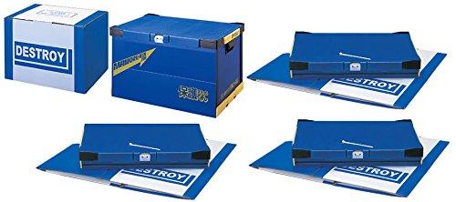 シュレッダーに代わる機密書類処分ボックス 『保護くん(まもるくん)スペシャル全国版(4箱セット)』