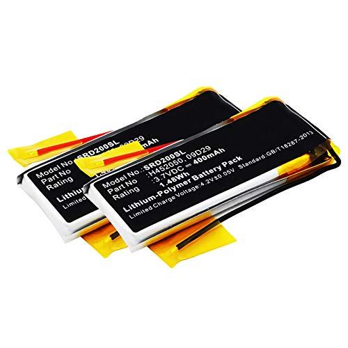 subtel 2X Qualitäts Akku kompatibel mit Cardo Scala Rider Teamset Pro, Scala Rider Multiset Q2, 09D29,H452050 400mAh Ersatzakku Batterie