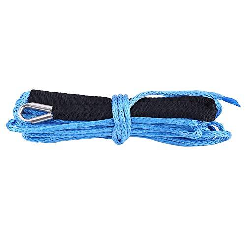 ROSEBEAR 1/4 * 49 Cable de Línea de Cuerda de Cabrestante Sintético con Funda Protectora 6600 Lbs Accesorios Exteriores para Atv Utv Truck Blue