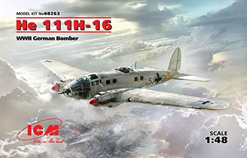 ICM- Maqueta de He 111H-16, WWII German Bomber (48263)