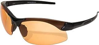 Edge Eyewear Sharp Edge Thin Temple 3 Lens Kit, Matte Black Frame/Clear, Tiger's Eye, G-15 Vapor Shield Lenses