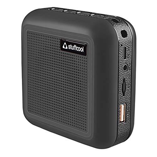 Stuffcool Theo Portable TWS (True Wireless Stereo) Bluetooth Speaker with Mic - Black