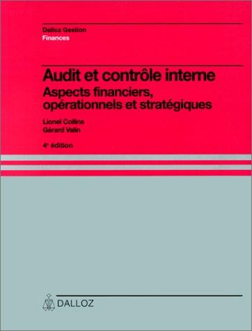 Audit et contrôle interne.