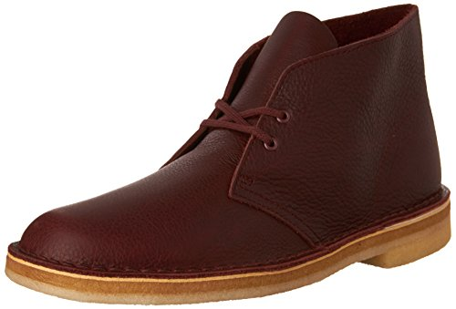 CLARKS Men's Desert Boot,Burgundy Leather ,US 7.5 M