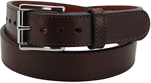 Brown Stitched Steel Core Max Thickness Bullhide Gun Belt, 36 Inches