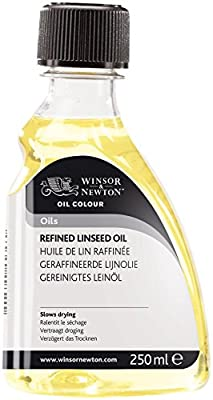Winsor & Newton WN3039748 Refined Linseed Oil 250 ml, RCFRLO250