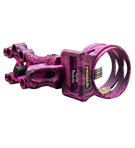 TRUGLO Carbon XS Xtreme Ultra-Lightweight Carbon-Composite Bow Sight, Realtree APC Pink Camo.019'/X-Small (TG5805P)