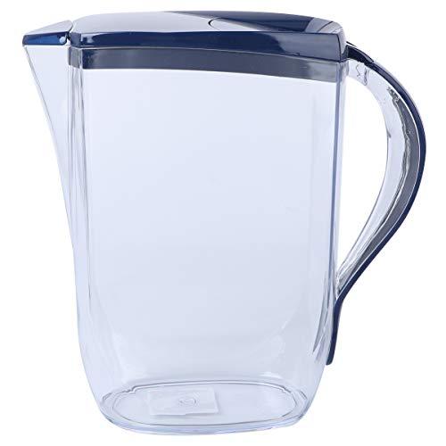 UPKOCH Kunststoff-Krug Wasserkrug Saftkrug Kühlschrankkrug mit Deckel für Kaltes Wasser 2L(Zufällige Farbe)