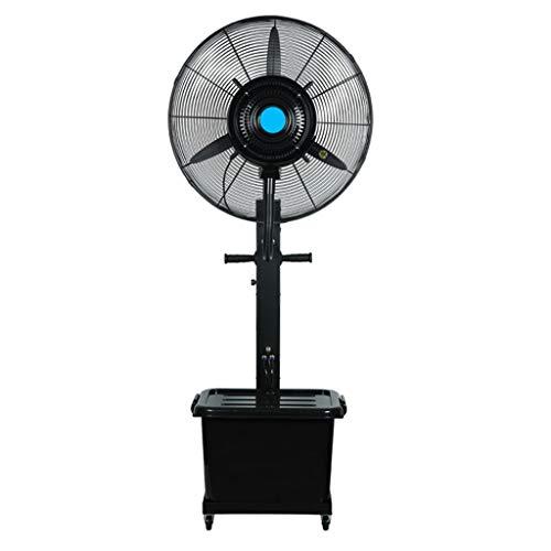Ventilador exterior de pie, ventilador de pedestal circulación de aire con control de velocidad variable pulverización agua Ventilador eléctrico de piso para industrial, comercial (26in / 30in)