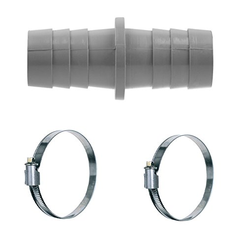 VIOKS Pieza de conexión con 2 abrazaderas de 18 – 28 mm, conector de manguera ABlauch para lavavajillas y lavadoras